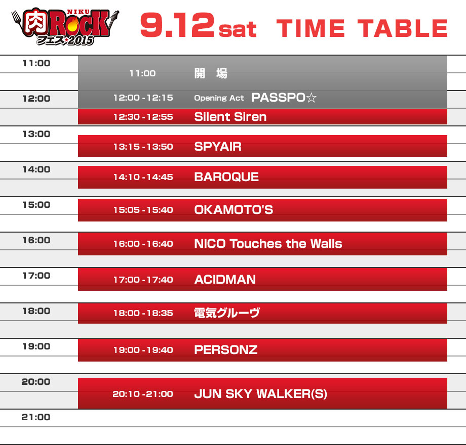 9.12 TIME TABLE